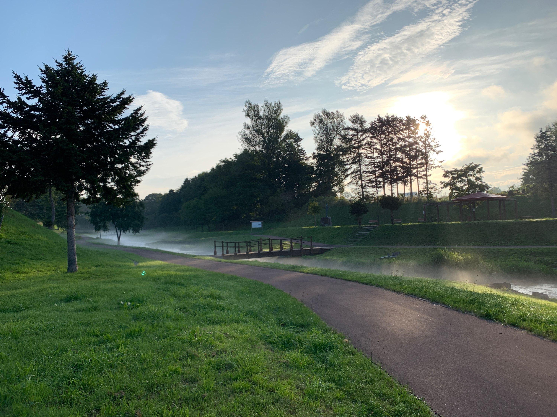 川に霧2019,9,10